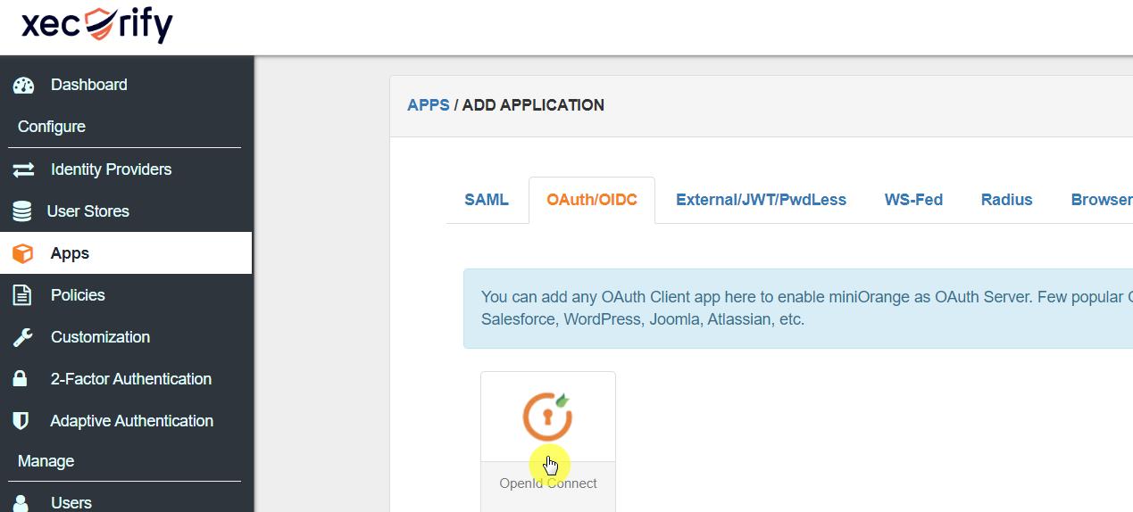 Configure OIDC App
