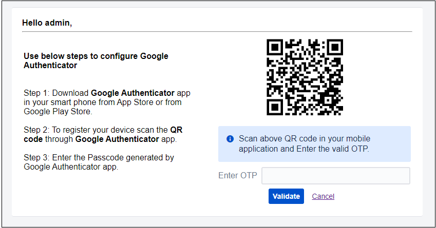 two factor authentication (2fa) for jira scan the QR-code