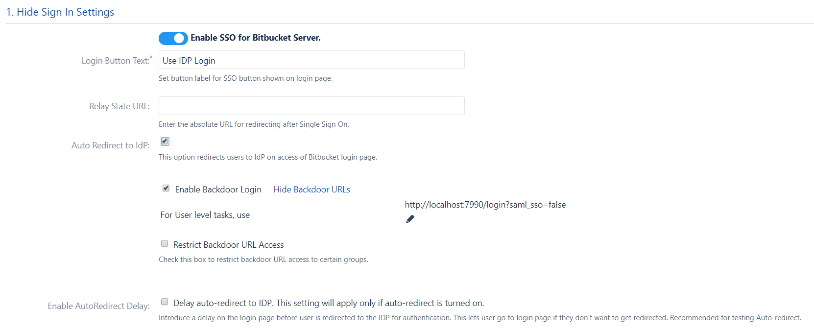Bitbucket SAML Single Sign On, SSO-13