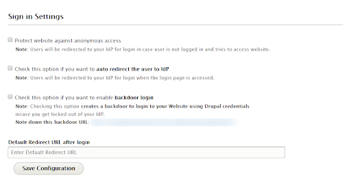 Configure Service Provider