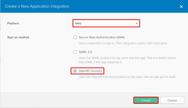 OAuth/OpenID/OIDC Single Sign On (SSO), Okta SSO Login Web