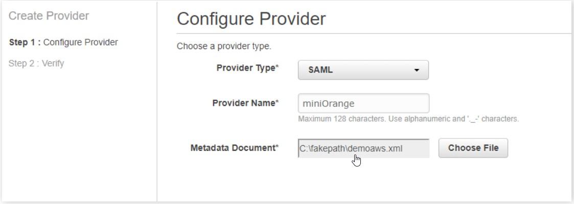 choose a metadata file