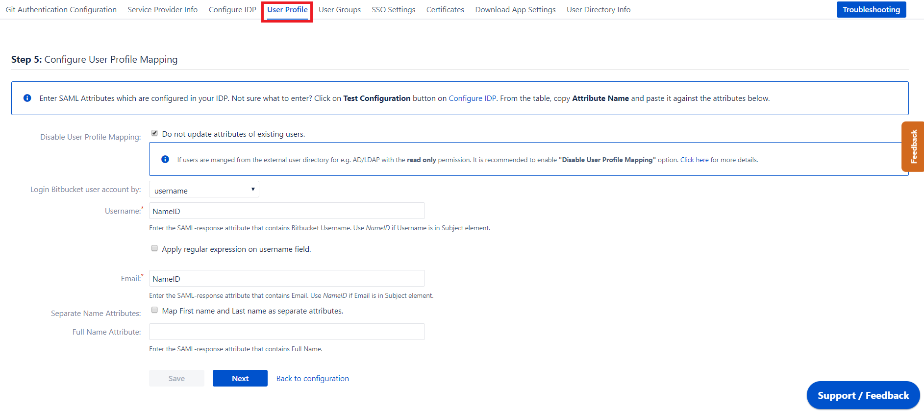 Bitbucket SAML Single Sign On, SSO-11