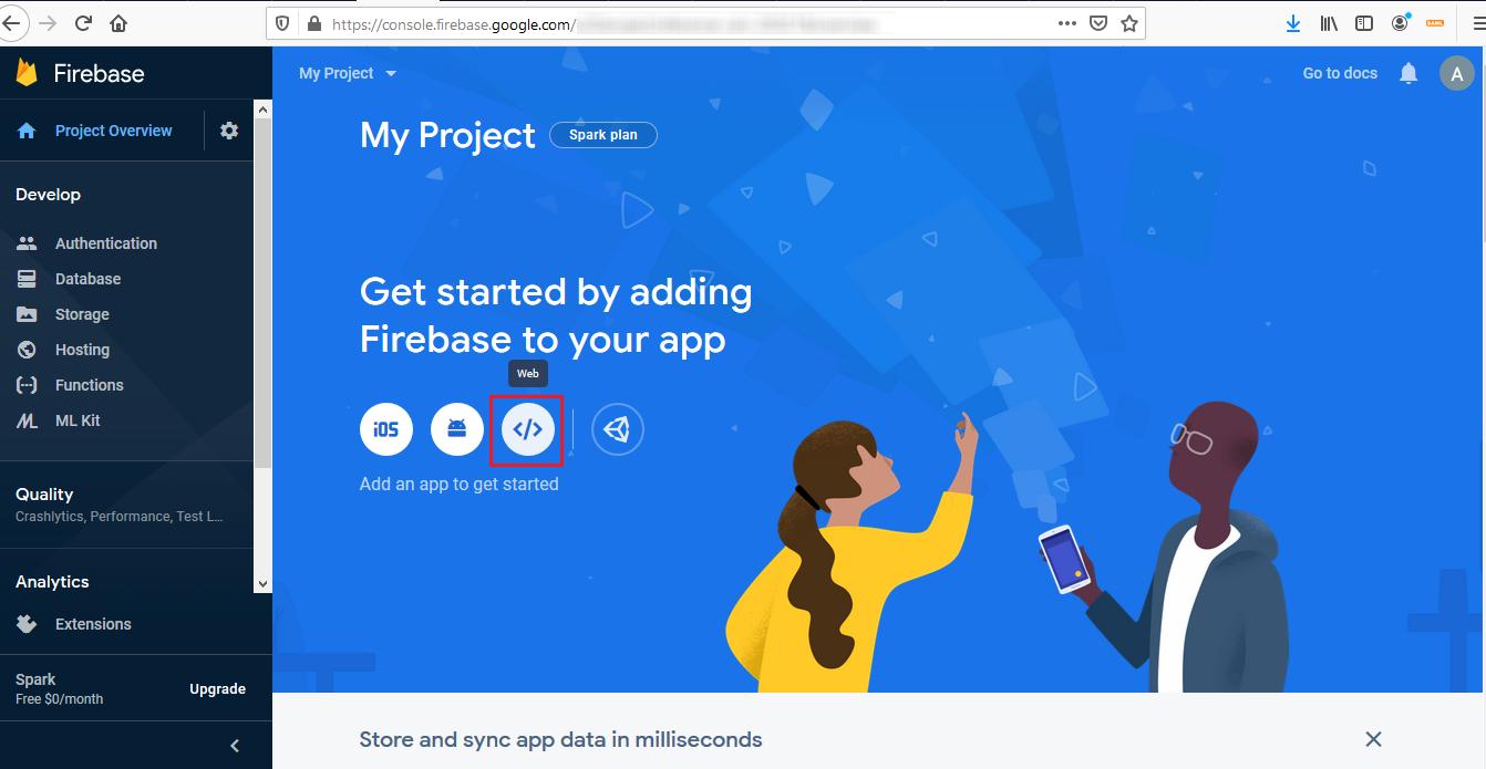 Firebase Integration - Add a web app