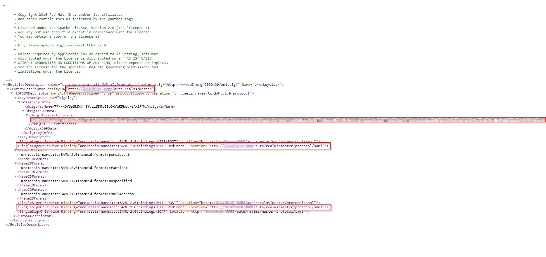 Jboss keycloak XML browser