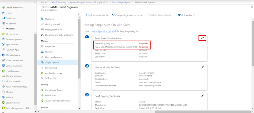 azure ad sso configuring single sign-on