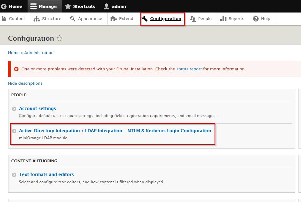 NTLM & Kerberos login configuration
