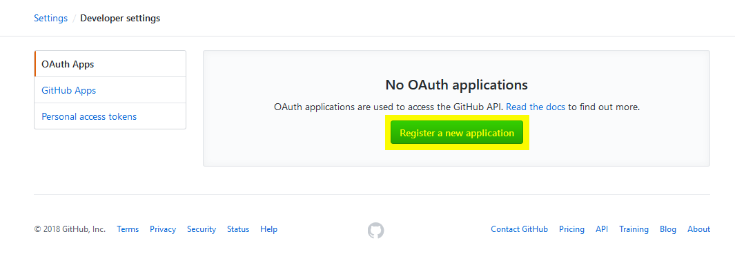 GitHub SSO (Create a new Application)