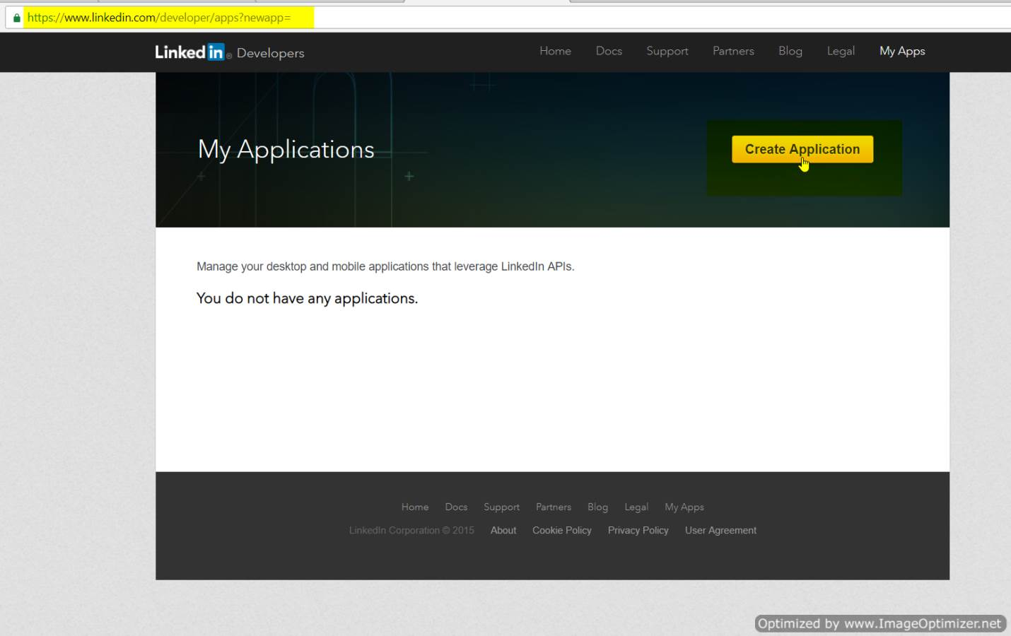 linkedin sso (create application)