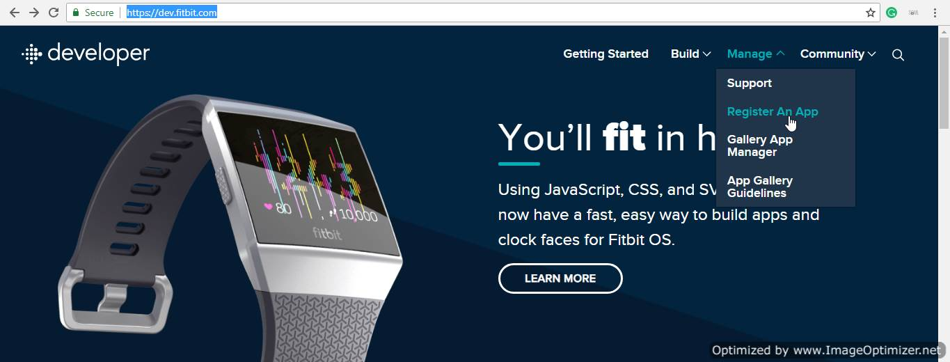 FitBit SSO (Home Page)