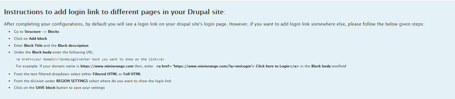 Drupal OAuth Client login link