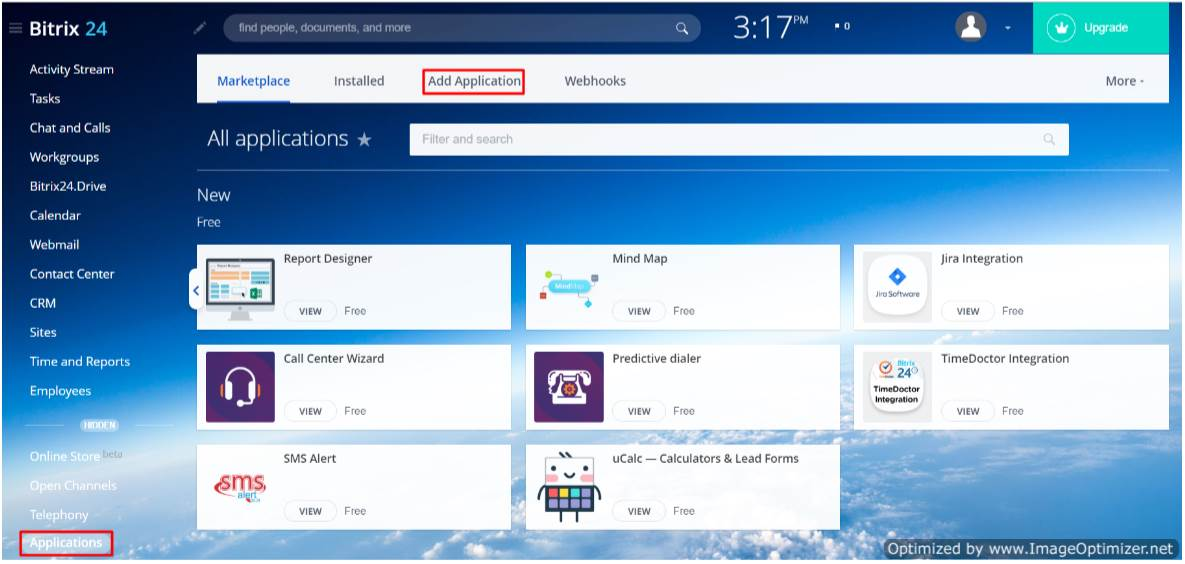bitrix24 OAuth/OpenId navigation menu