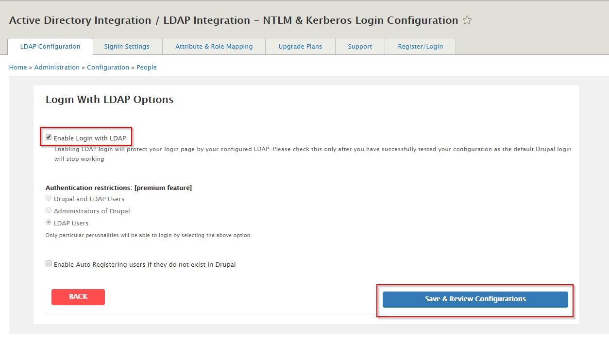 Login using LDAP