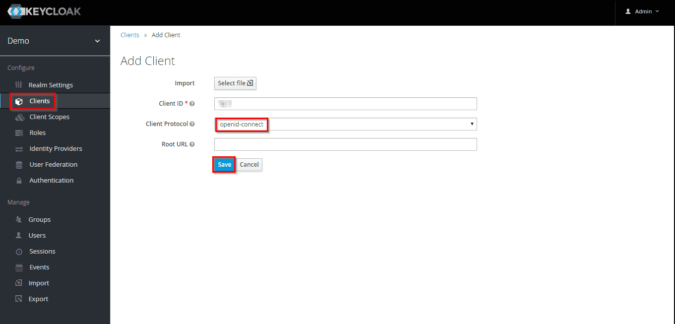 Create Openid Connect