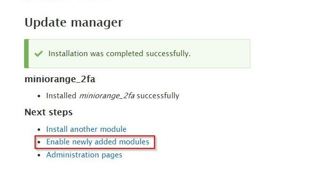 Drupal 2FA enable new module