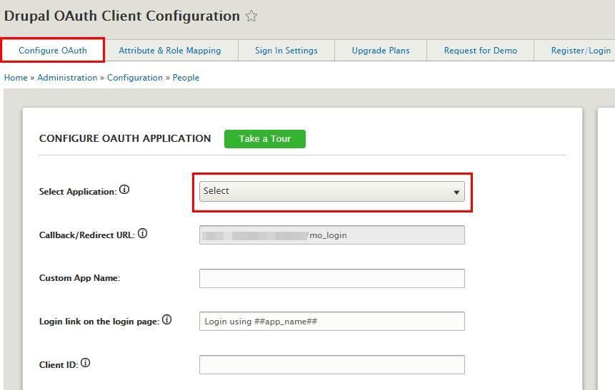 Drupal OAuth Client - Configure module