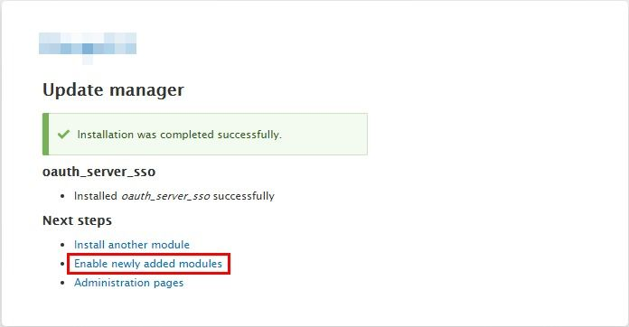 Drupal OAuth Server module-Update manager