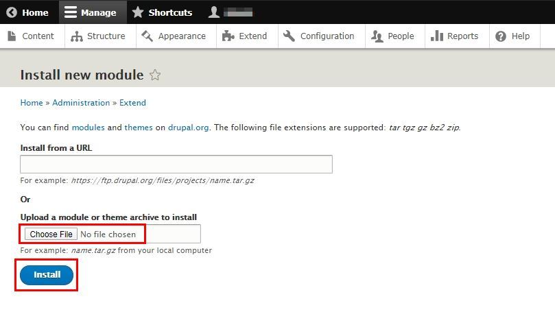 Drupal OAuth Server module-Upload