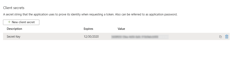 OAuth/OpenID/OIDC Single Sign On (SSO), Azure AD SSO Secret-Key-2