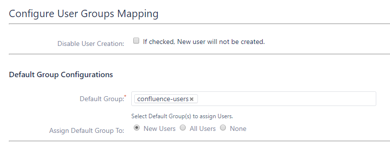 Confluence SAML Single Sign On - SSO - Default group