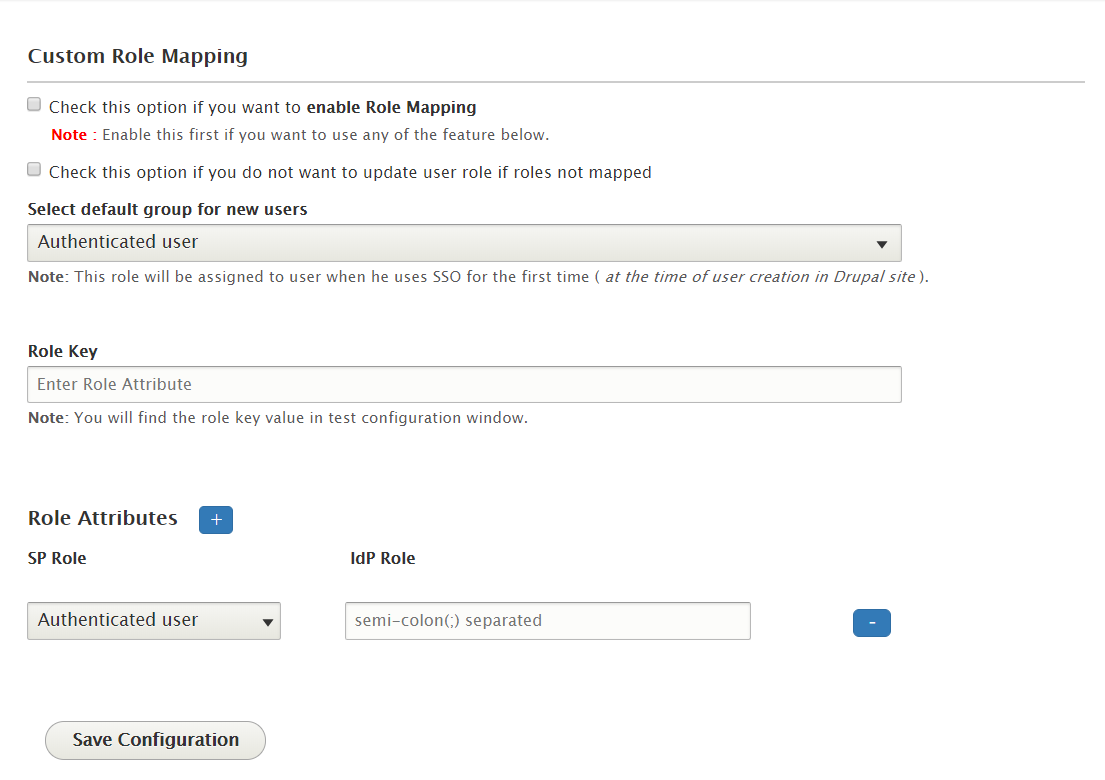 Drupal OpenAM sso  role mapping