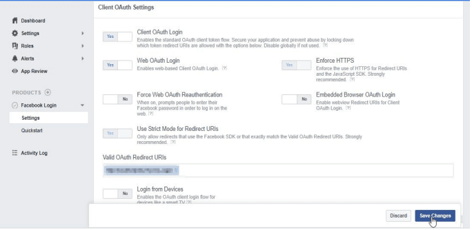 facebook_sso_Client OAuth Settings