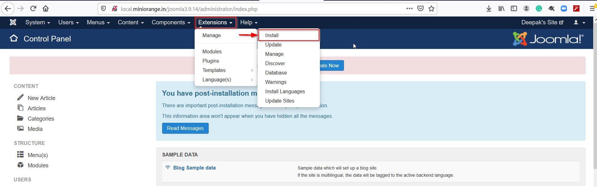 Joomla OAuth Client Plugin - Install