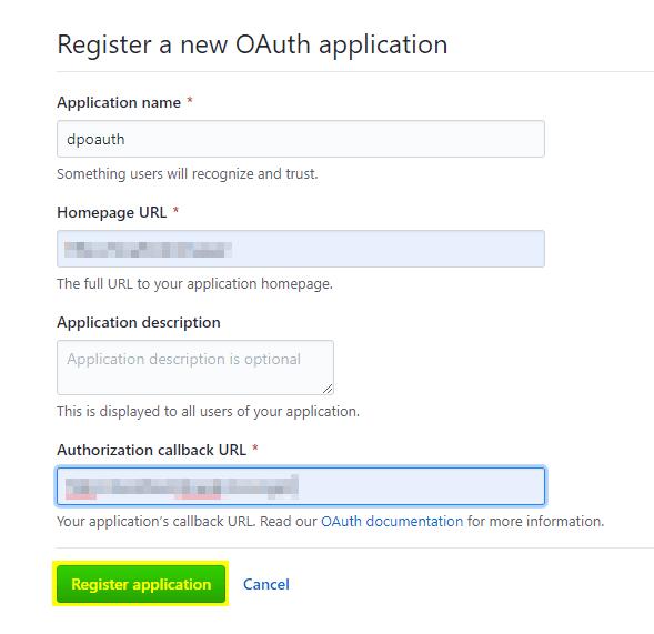 Register New Application