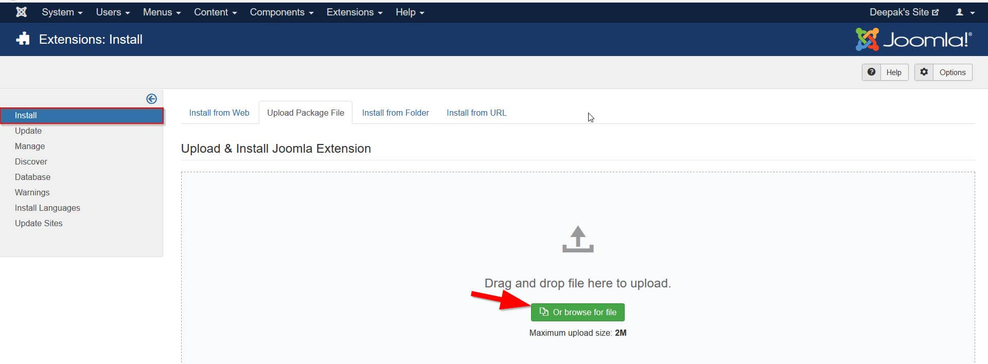 Joomla OAuth Client Plugin - Upload