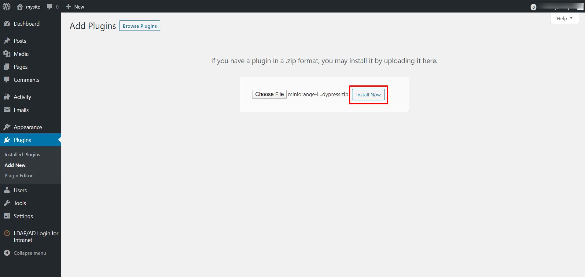 LDAP BuddyPress integration install