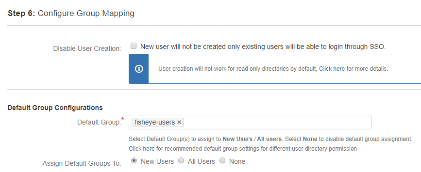Fisheye/Crucible SAML Single Sign On - SSO - Default group