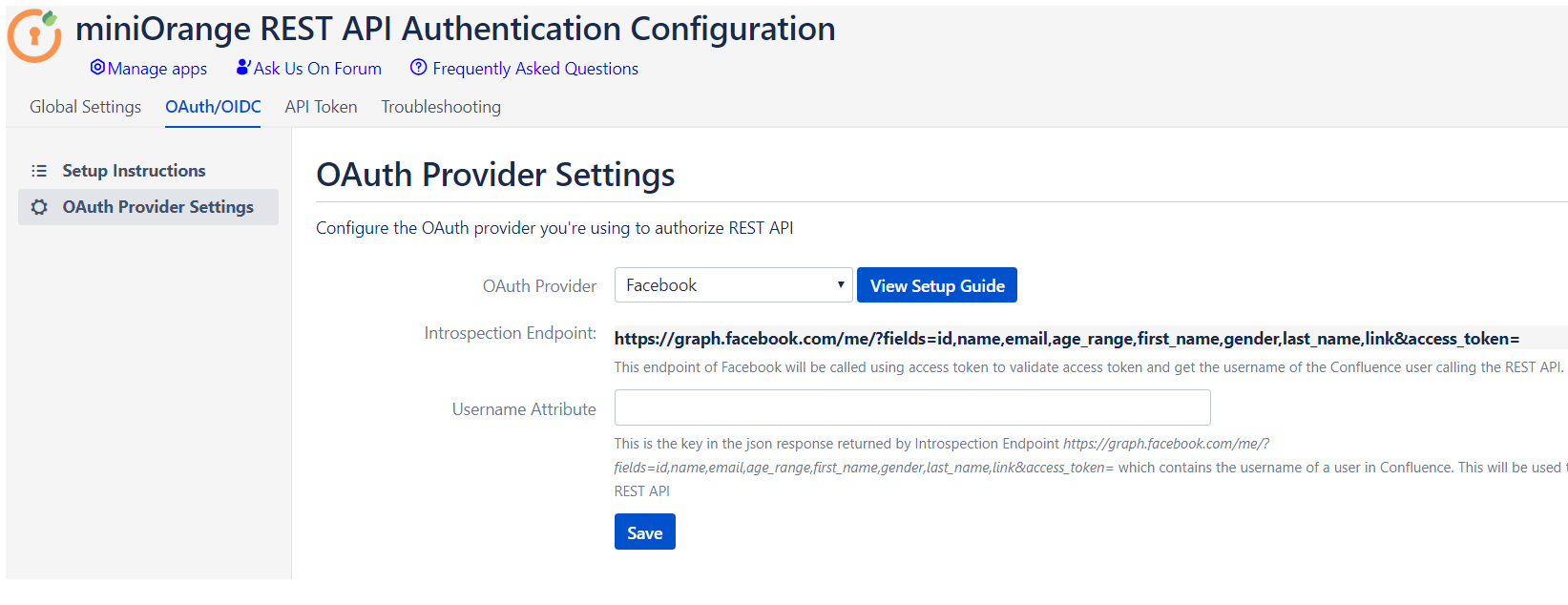 Rest API OAuth, API token, API Key authentication for Jira and Confluence Facebook as Oauth Provider