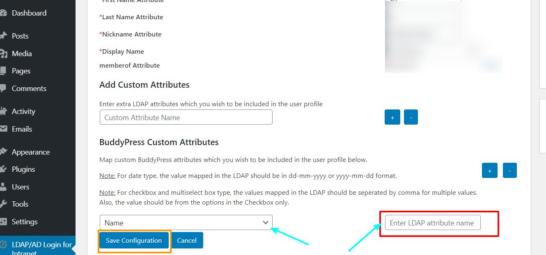 LDAP BuddyPress integration