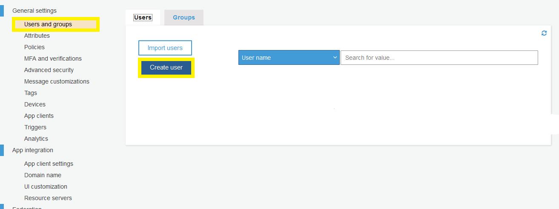 AWS Cognito App New User Creation