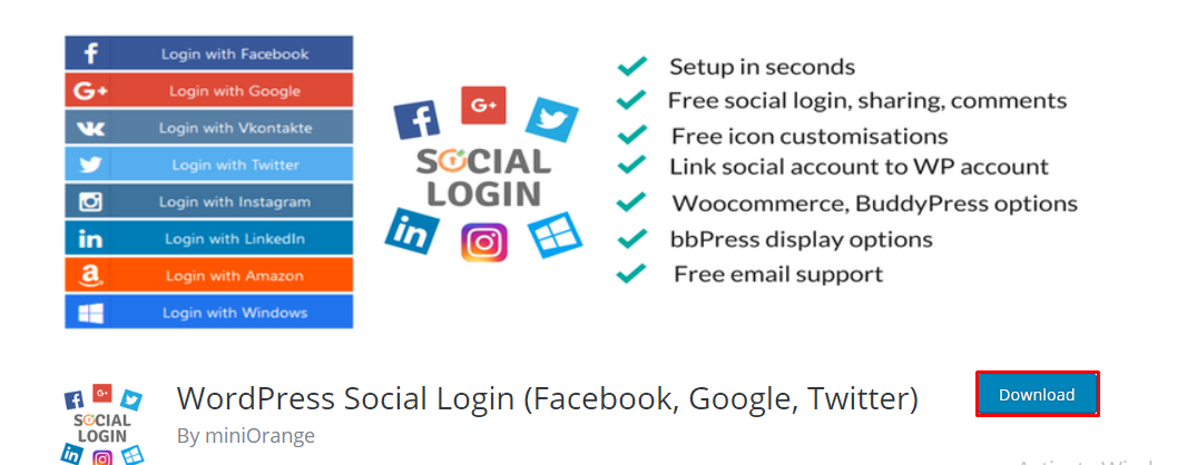 social login download