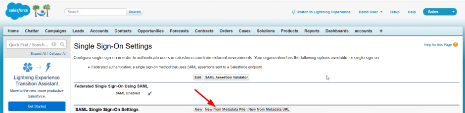 select New from metadata file