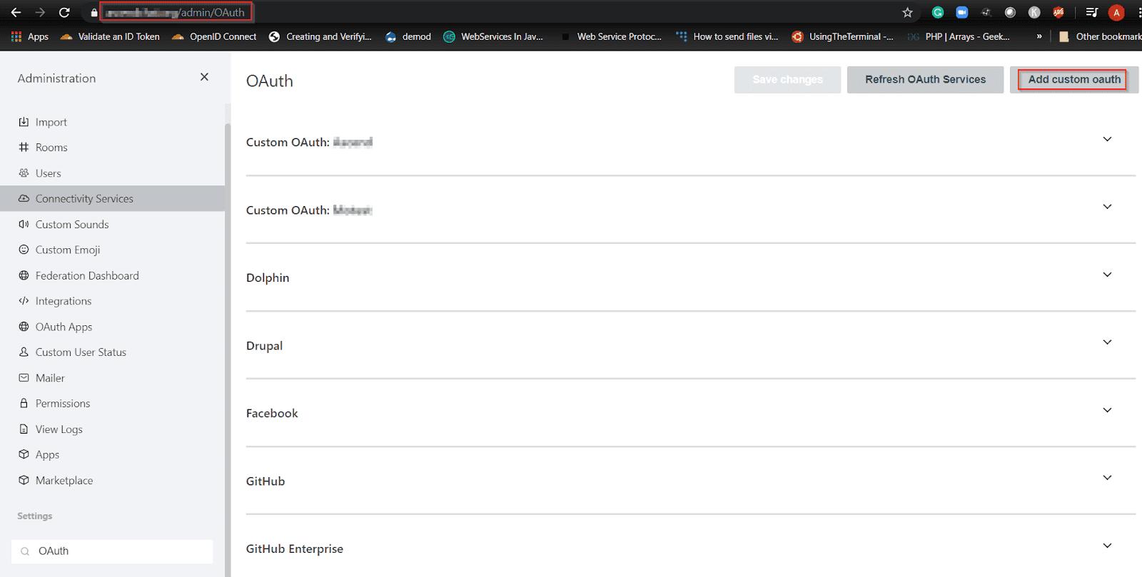 Rocket Chat Single Sign On SSO Custom OAuth
