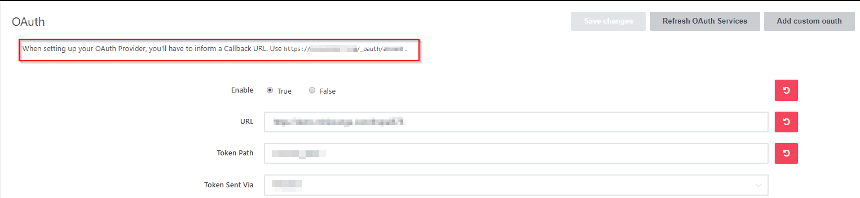 Rocket Chat Single Sign On SSO callback URL