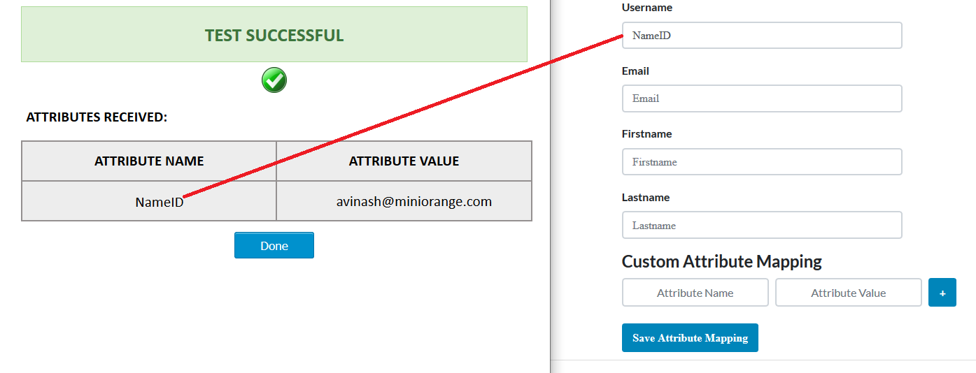 ASP.Net SAML Connector attribute mapping
