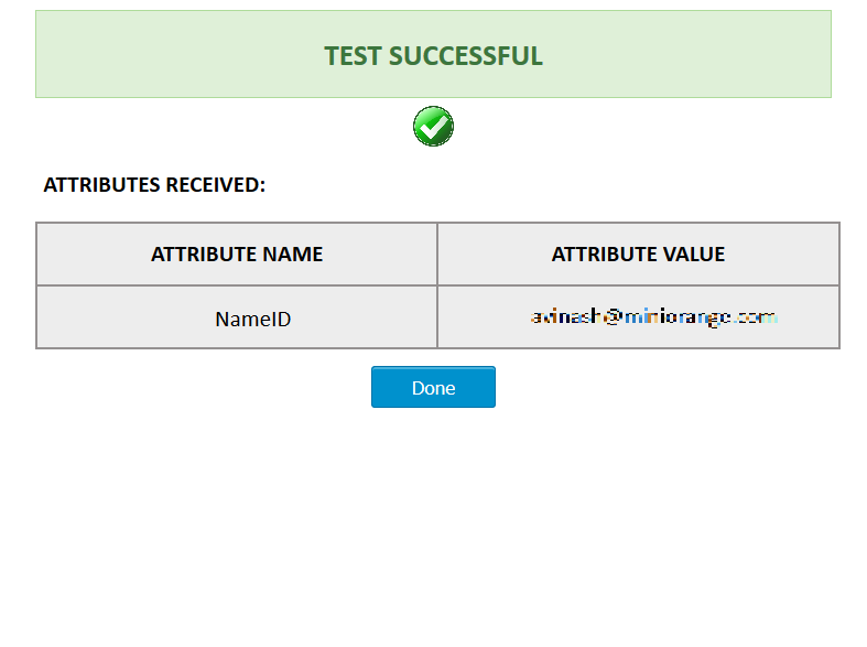 ASP.Net SAML Connector Test Configuration