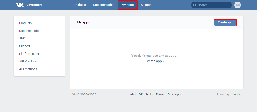 Vkontakte new app