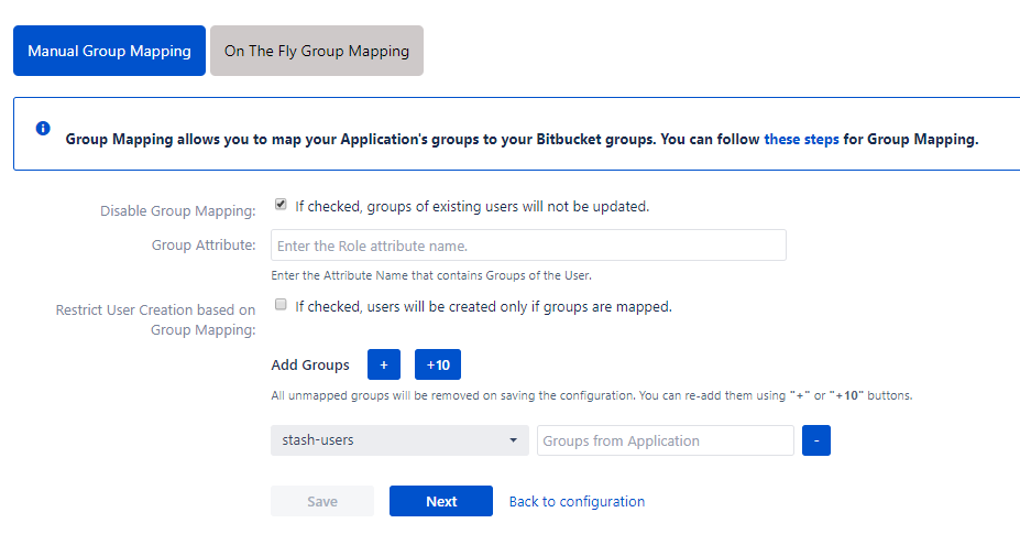 Bitbucket OAuth/OpenID Single Sign On - SSO - Manual group mapping