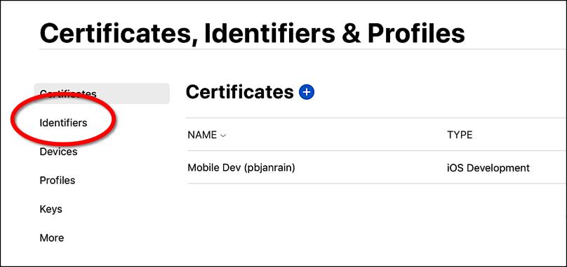 New identifier