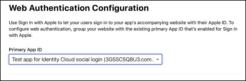 Primary App ID