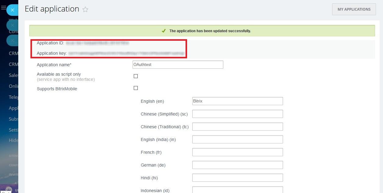 bitrix24 OAuth/OpenId clever instant plugin