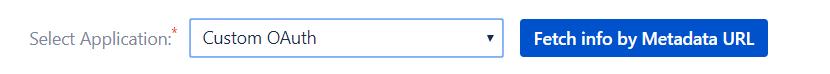 Custom OAuth - Import Metadata Feature