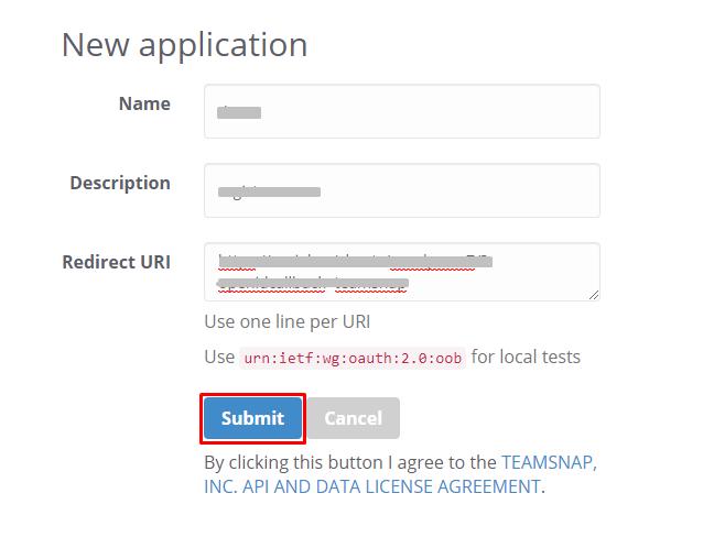 teamsnap redirect url