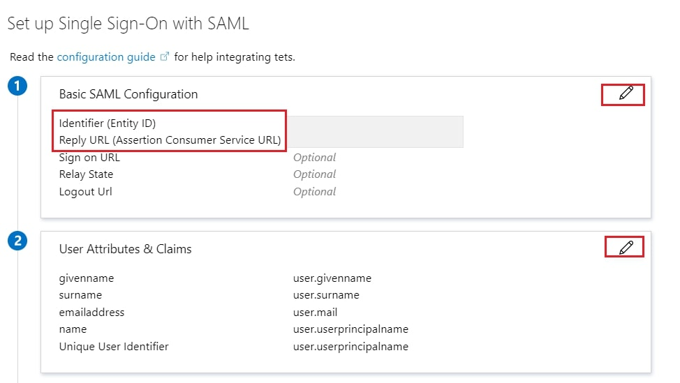Single Sign On(SSO)using Azure AD, Azure AD SAML configuration