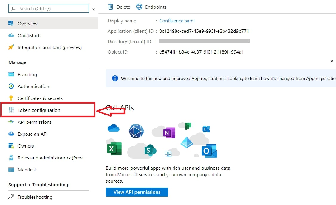 Single Sign On(SSO)using Azure AD, token configuration
