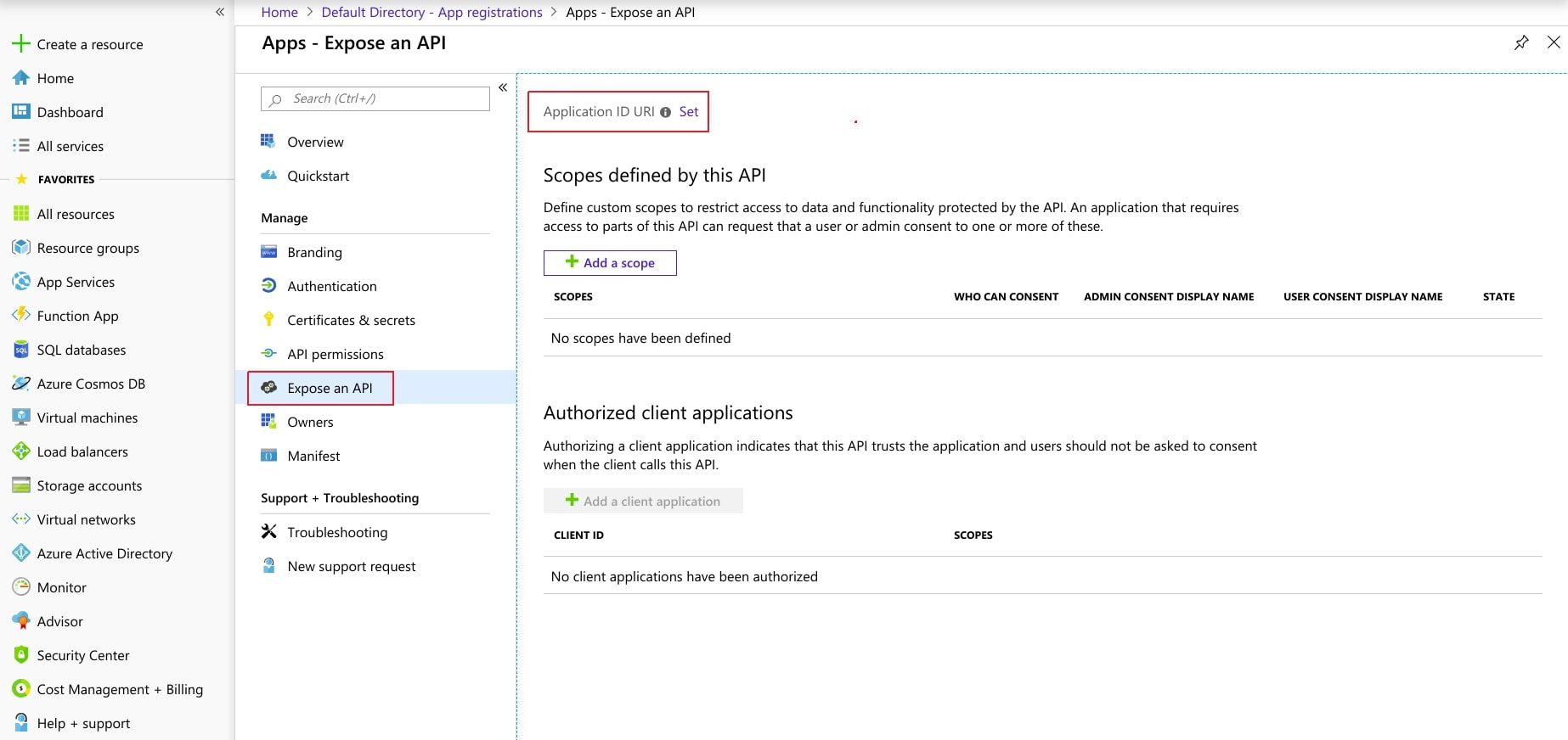 Single Sign On(SSO)using Azure AD, expose an API